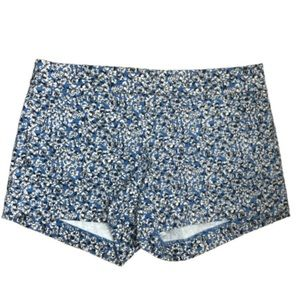 J Crew City Fit Stretch Chino Blue Floral Shorts
